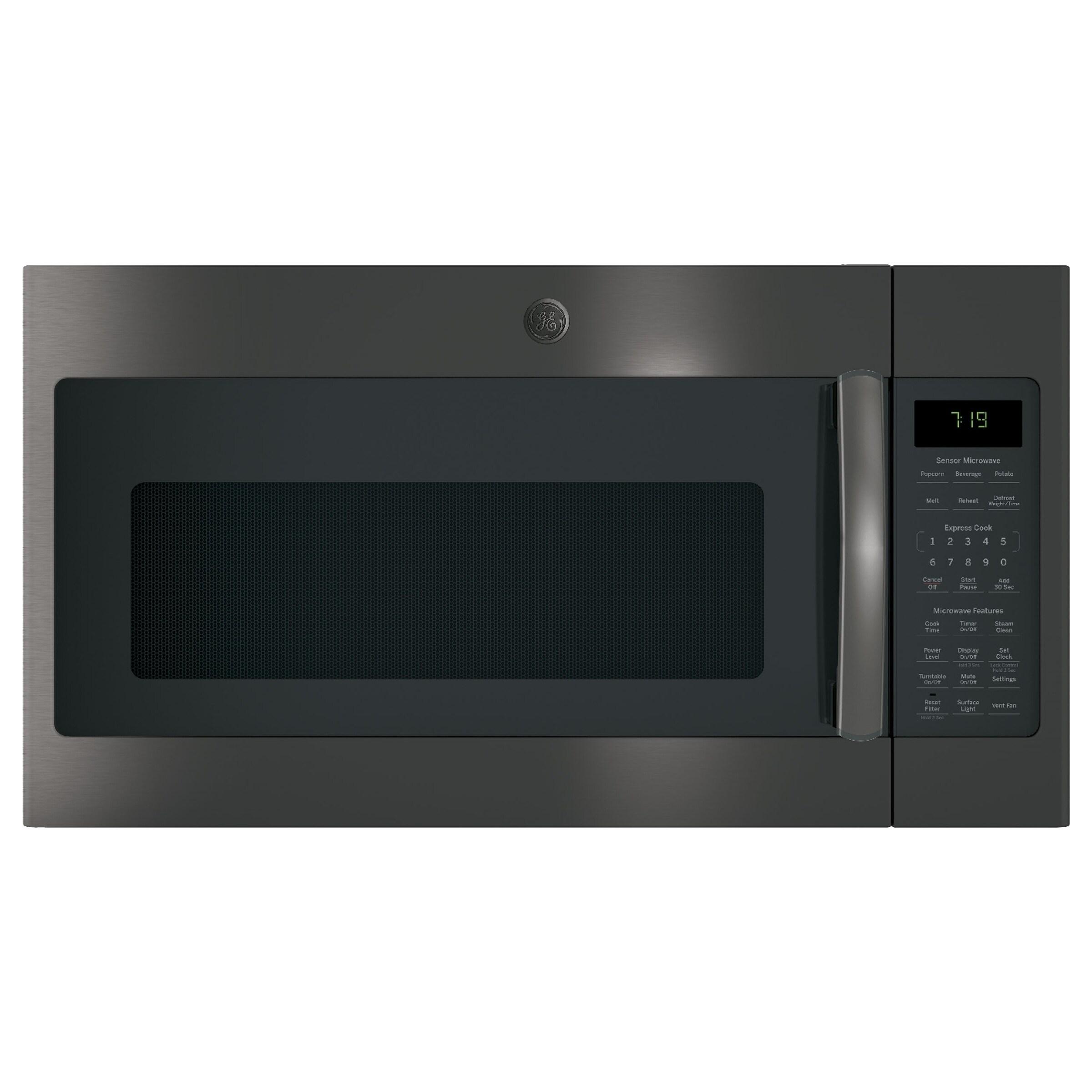 GE 1.9 Cu. Ft. Over-the-Range Sensor Microwave Oven 1.6 - 2.0 cf - Black - Clock Display