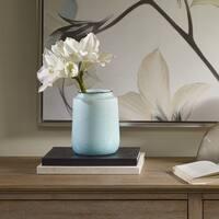 Madison Park Salerno Blue Ceramic Vase - Small