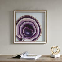 Madison Park Gemstone Purple Handmade Glass Wall Palque