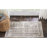 "Kathy Ireland Silver Screen Grey Area Rug by Nourison (2'2 X3'9) - 2'2"" x 3'9"""