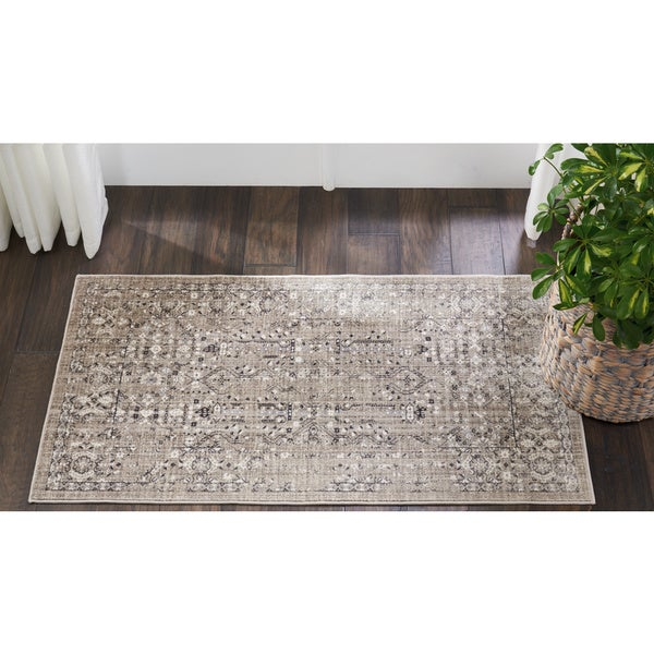 Kathy Ireland Silver Screen Latte Area Rug by Nourison (2'2 X3'9)