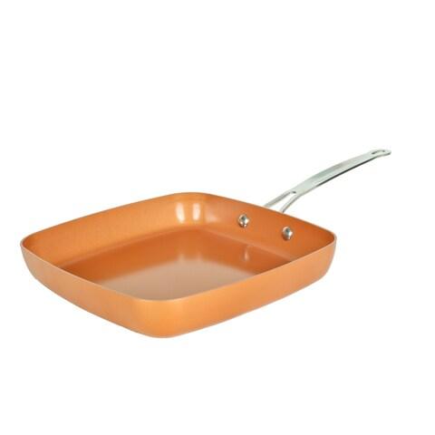 "Original Copper Pan Non-Stick Square Fry pan, 9.5"""
