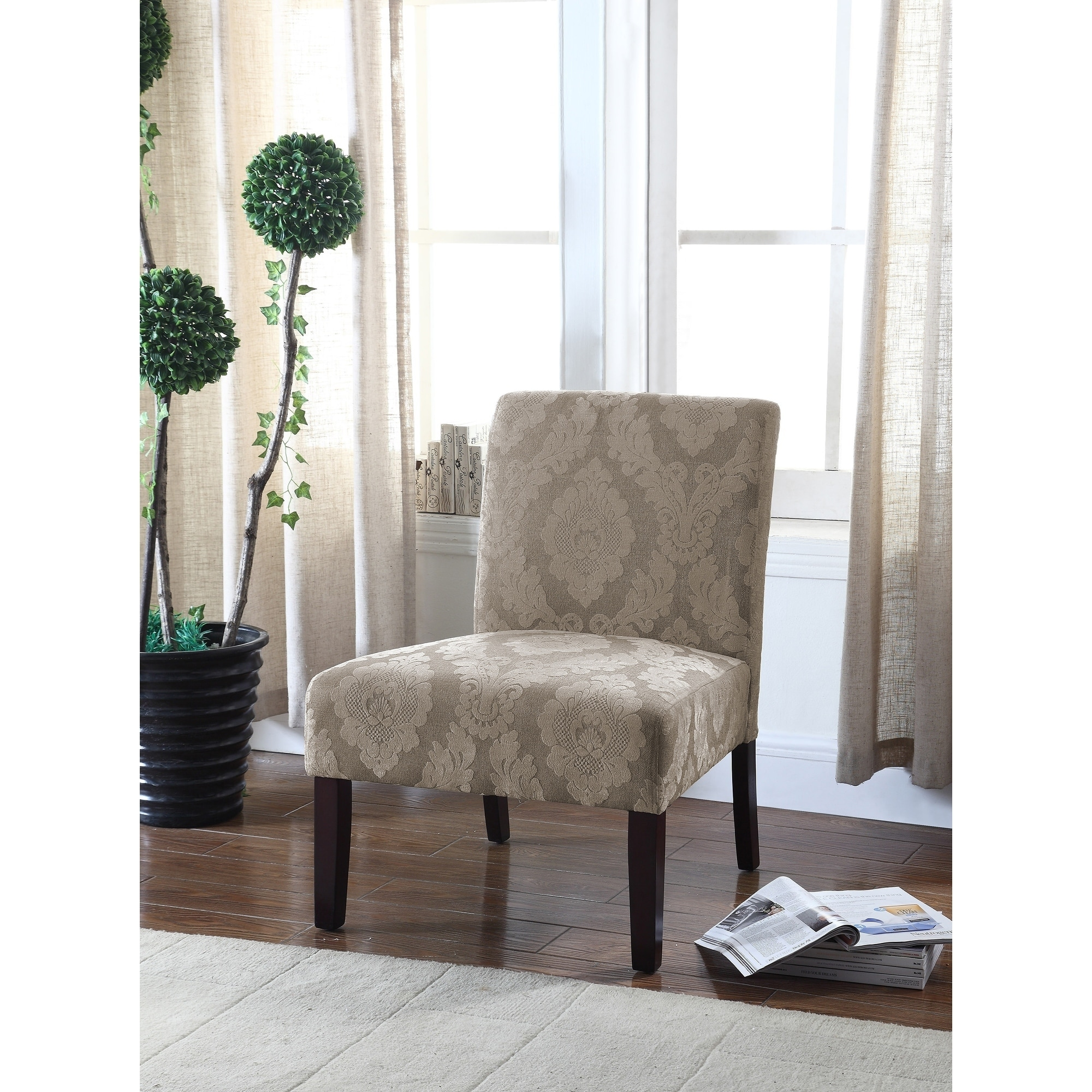 Picture of: Best Master Furniture Beige Floral Accent Chair Overstock 18843679