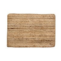 "Solid Jute 13"" x 19"" S/4 Placemats, Natural"