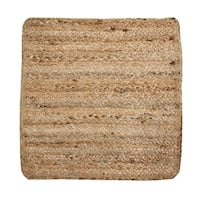 """Solid Jute 15"""" Square S/4 Placemats, Natural"""