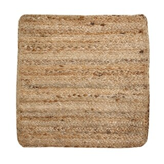 "Solid Jute 15"" Square S/4 Placemats, Natural"