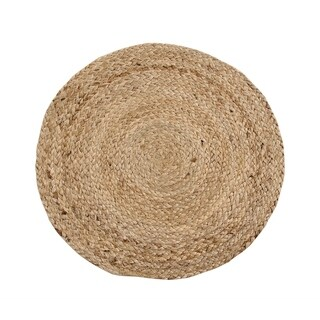 "Solid Jute 15"" Round S/4 Placemats, Natural"