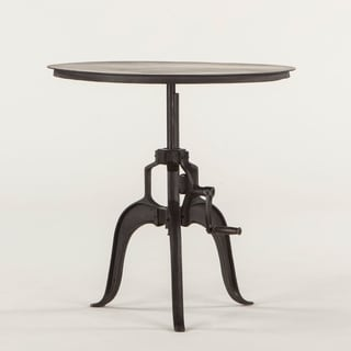 Artezia Black Cast Iron Adjustable Side Table