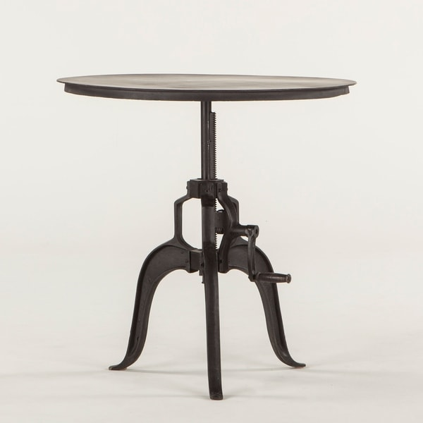 Artezia Black Cast Iron Adjustable Side Table