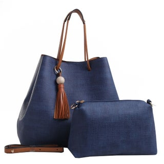 MKF Collection by Mia K. Farrow Irene Hobo Shoulder Bag (Option: Dark blue)