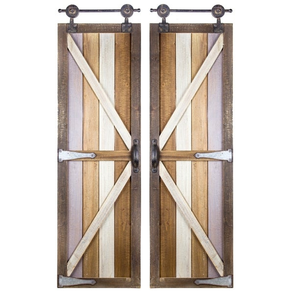 Shop American Art Decor Barnyard Doors Modern Farmhouse Decor - Free ...