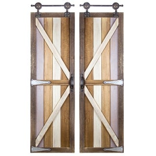 American Art Decor Barnyard Doors Modern Farmhouse Decor