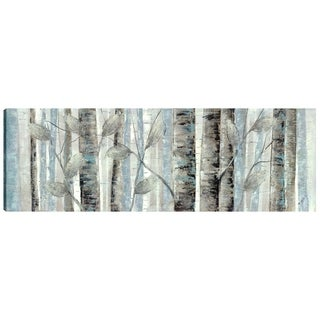 20X60 Forest Horizontal, Gel Coated Print on Wrapped Canvas Wall Art