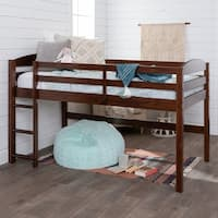 Solid Wood Low Loft Twin Bed with ladder