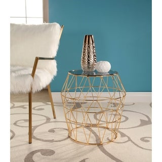 Abbyson Violet Stainless Steel End Table