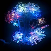 Multicolor Snowflake Christmas Light Electric Powered 50 LED 19.5 Ft