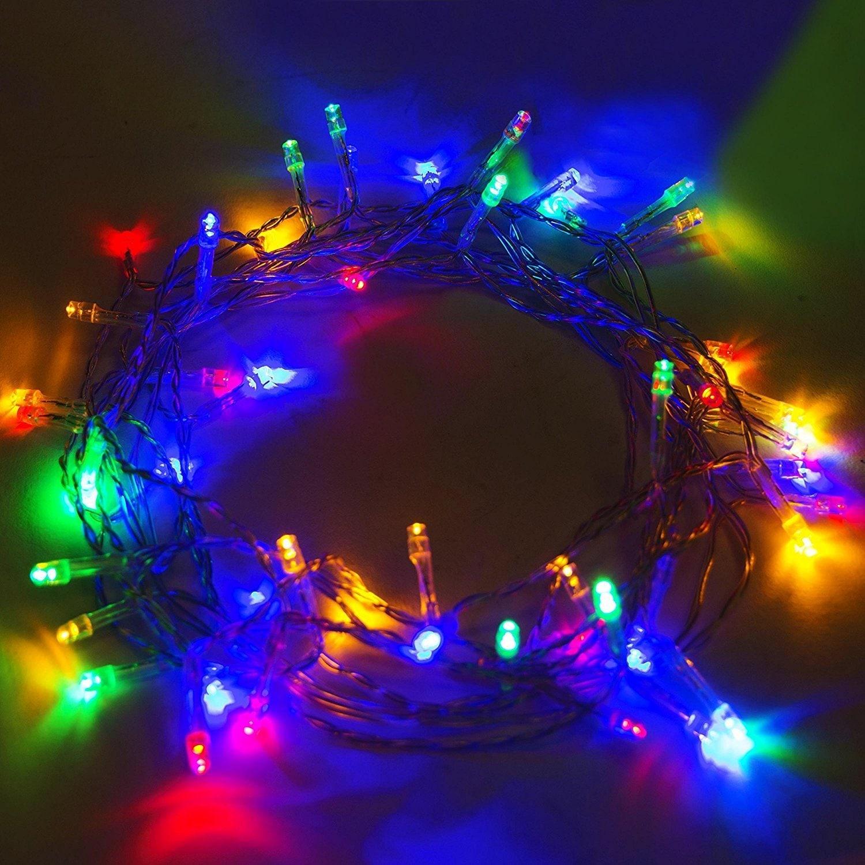 Solar Powered Christmas Lights.Aleko 60 Led Solar Powered Christmas String Lights 16 Multicolor