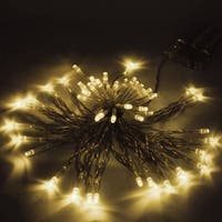 ALEKO 50 LED Battery 19.5' Christmas Warm White Lights Lot of 5