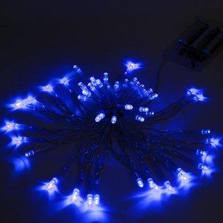 ALEKO 50 LED Battery Operated 19.5' Christmas Blue Lights Lot of 5