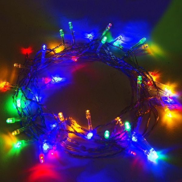 aleko solar multicolored 50 led holiday string lights lot of 2
