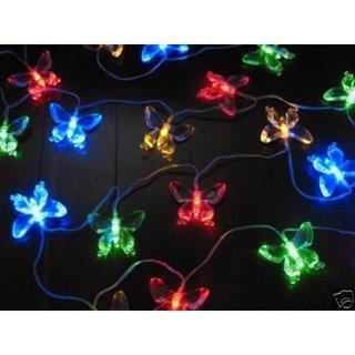 ALEKO 20 LED 15 feet Butterfly Solar Powered Decorating String Lights