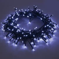 ALEKO 105 LED White Solar Powered 37-Foot Decorating String Lights