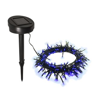 ALEKO 100 LED Blue Solar Powered 35-Foot Decorating String Lights