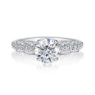 Lihara and Co. 18k White Gold 2/5ct TDW White Diamond Semi-Mount Engagement Ring (G-H, VS1-VS2) - White G-H (More options available)