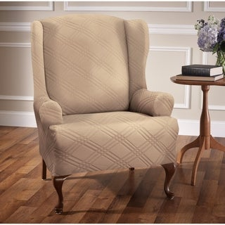 Stretch Sensations Stretch Double Diamond Wing Chair Slipcover - wing chair