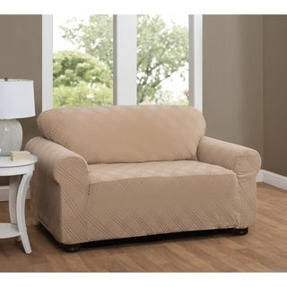 Stretch Sensations Stretch Double Diamond Loveseat Slipcover