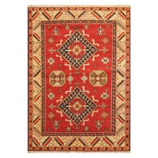 Handmade Herat Oriental Indo Hand-knotted Kazak Wool Rug (5'9 x 8'1)