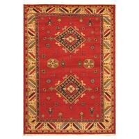 Handmade Herat Oriental Indo Hand-knotted Kazak Wool Rug - 5'7 x 8'