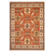 Handmade Herat Oriental Indo Hand-knotted Kazak Wool Rug (5'8 x 8')