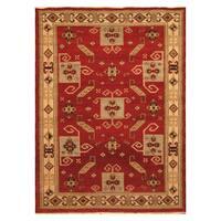 Handmade Herat Oriental Indo Hand-knotted Kazak Wool Rug (5'8 x 7'9)