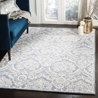 Safavieh Handmade Blossom Blue/ Ivory Wool Rug (4' x 6')