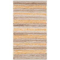 Safavieh Hand-Woven Cape Cod Natural/ Orange Cotton Rug - 3' x 5'