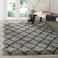 Safavieh Indie Shag Grey/ Dark Grey Polyester Rug - 3' x 5'