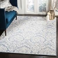 Safavieh Handmade Blossom Blue/ Ivory Wool Rug (5' x 8')