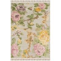 Safavieh Hand-Knotted Kenya Pink/ Grey Wool Rug (6' x 9') - 6' x 9'