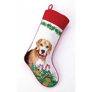 Beagle Needlepoint Stocking