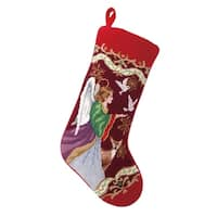 Christmas Angel Needlepoint Stocking