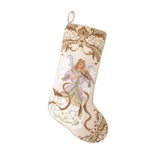Angel With violin Needlepoint Stocking