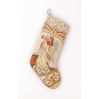 Angel With horn Needlepoint Stocking