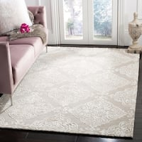 Safavieh Handmade Glamour Silver/ Ivory Viscose Rug (5' x 8')