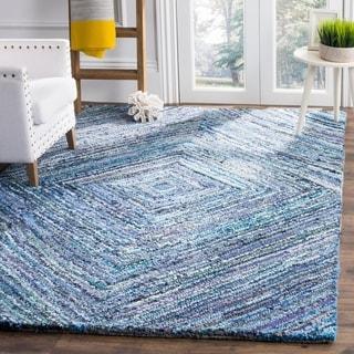 Safavieh Handmade Nantucket Blue Cotton Rug (8' x 10')