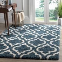 Safavieh Hudson Shag Slate Blue/ Ivory Rug (9' x 12')