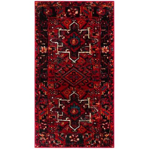 "Safavieh Vintage Hamadan Jasmin Traditional Red/ Multi Rug - 2'3"" x 4'"