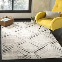 Safavieh Amsterdam Cream/ Charcoal Rug - 6' 7 Square