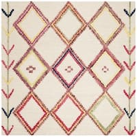 Safavieh Handmade Bellagio Ivory/ Multi Wool Rug - 5' Square
