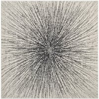 Safavieh Evoke Nova Abstract Burst Black/ Ivory Rug - 9' x 9' Square